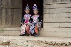 Muchacha de Laos Hmong foto de archivo libre de regalías