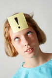 Muchacha de las etiquetas engomadas fotos de archivo libres de regalías