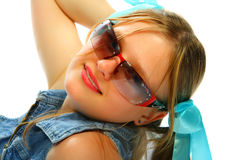 Muchacha de las gafas de sol Imagen de archivo