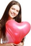 Muchacha de las tarjetas del día de San Valentín Foto de archivo
