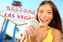 Muchacha de Las Vegas emocionada Imagen de archivo libre de regalías
