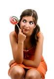 Muchacha de Lollypop Foto de archivo libre de regalías