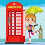 Muchacha de Londres ilustración del vector