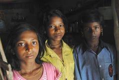 Muchacha de los adolescentes en la India. Imagen de archivo