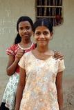 Muchacha de los adolescentes en la India rural Imagenes de archivo