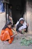 Muchacha de los adolescentes en la India rural Imágenes de archivo libres de regalías