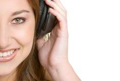 Muchacha de los auriculares imágenes de archivo libres de regalías