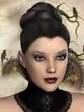 muchacha de los gráficos 3d ilustración del vector