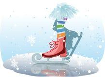 Muchacha de los patines de hielo Fotografía de archivo