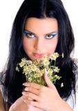 Muchacha de maquillaje de la belleza Fotos de archivo libres de regalías