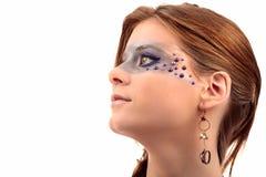 Muchacha de maquillaje de la joyería fotos de archivo libres de regalías