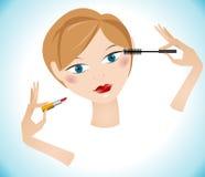 Muchacha de maquillaje hermosa Imagen de archivo