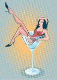 Muchacha de Martini Foto de archivo