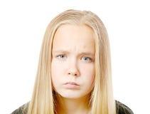 Muchacha de mirada triste Fotografía de archivo