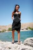 Muchacha de moda atractiva foto de archivo libre de regalías