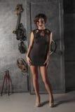 Muchacha de moda en alineada Fotos de archivo libres de regalías