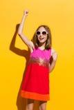 Muchacha de moda feliz Imagen de archivo libre de regalías
