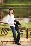 Muchacha de moda joven hermosa Imagenes de archivo