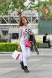 Muchacha de moda, Pekín céntrica, China Imágenes de archivo libres de regalías