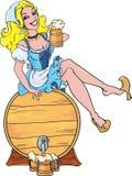 Muchacha de Oktoberfest Ilustración del Vector