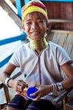 Muchacha de Padaung, Myanmar Fotos de archivo libres de regalías