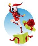 Muchacha de Papá Noel Foto de archivo libre de regalías