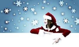 Muchacha de Papá Noel Imagen de archivo