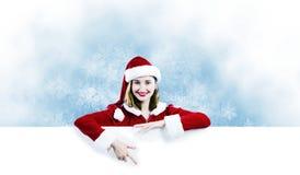 Muchacha de Papá Noel Imágenes de archivo libres de regalías