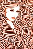Muchacha de pelo largo. Foto de archivo libre de regalías