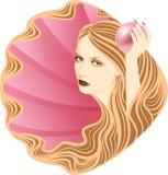 Muchacha de pelo largo. fotografía de archivo libre de regalías