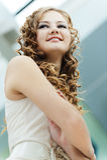 Muchacha de pelo largo del retrato Imagen de archivo libre de regalías