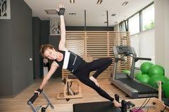 Muchacha de Pilates Fotografía de archivo