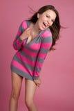 Muchacha de risa Foto de archivo libre de regalías