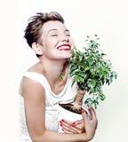 Muchacha de risa Fotos de archivo libres de regalías