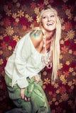 Muchacha de risa del Hippie Imágenes de archivo libres de regalías