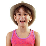 Muchacha de risa feliz Fotografía de archivo libre de regalías