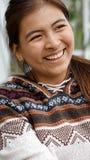 Muchacha de risa de la minoría Foto de archivo libre de regalías