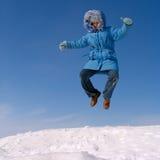 Muchacha de salto Foto de archivo libre de regalías