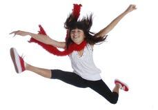 Muchacha de salto Fotografía de archivo libre de regalías