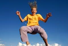 Muchacha de salto Fotos de archivo