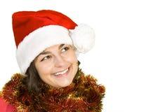 Muchacha de Santa Fotografía de archivo libre de regalías