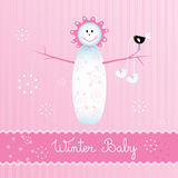 Muchacha de Snowbaby Imagen de archivo