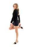 Muchacha de suéter negra Imagen de archivo libre de regalías