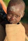 Muchacha de Suri con las cicatrices fotos de archivo