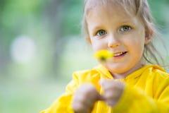 Muchacha de tres años de edad Imágenes de archivo libres de regalías