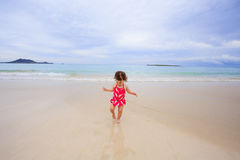 Muchacha de un año joven en Hawaii Foto de archivo