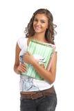 Muchacha de universidad joven con los libros Foto de archivo