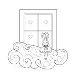 Muchacha de Window Fotografía de archivo libre de regalías