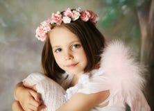 Muchacha del ángel Foto de archivo