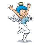 Muchacha del ángel con wings Fotos de archivo libres de regalías
